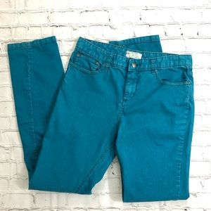 Free People Bright Blue Skinny Jeans